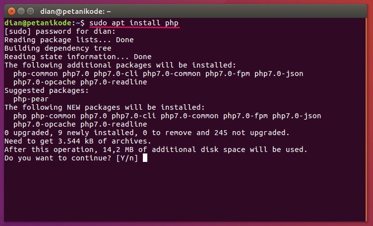 Install PHP 7 on Linux