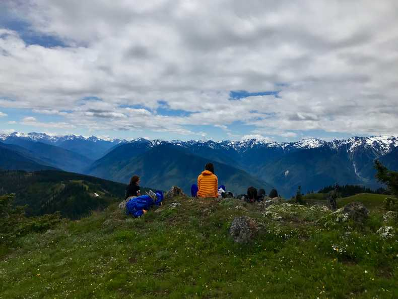 Lunch overlooking Olympic NP