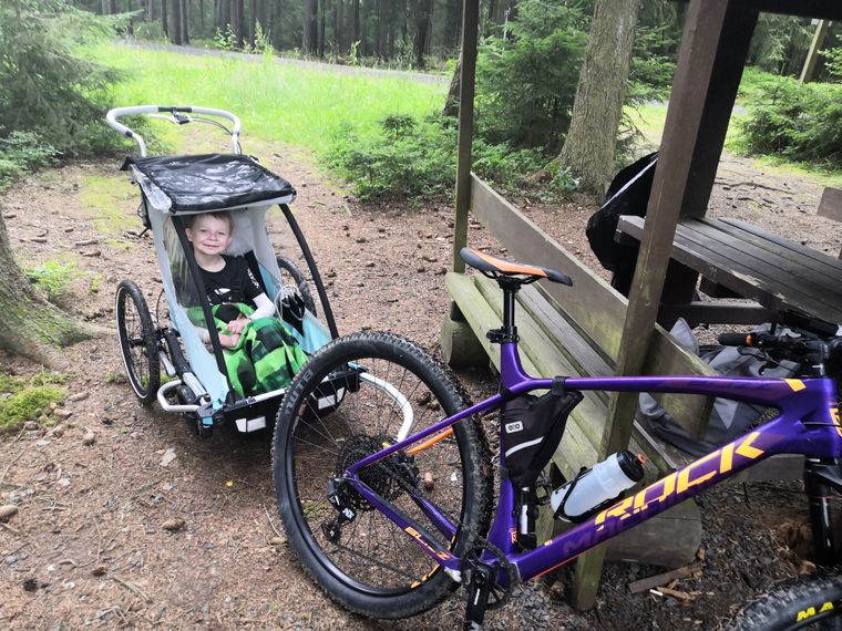 Vozíku za kolo pro Radečka