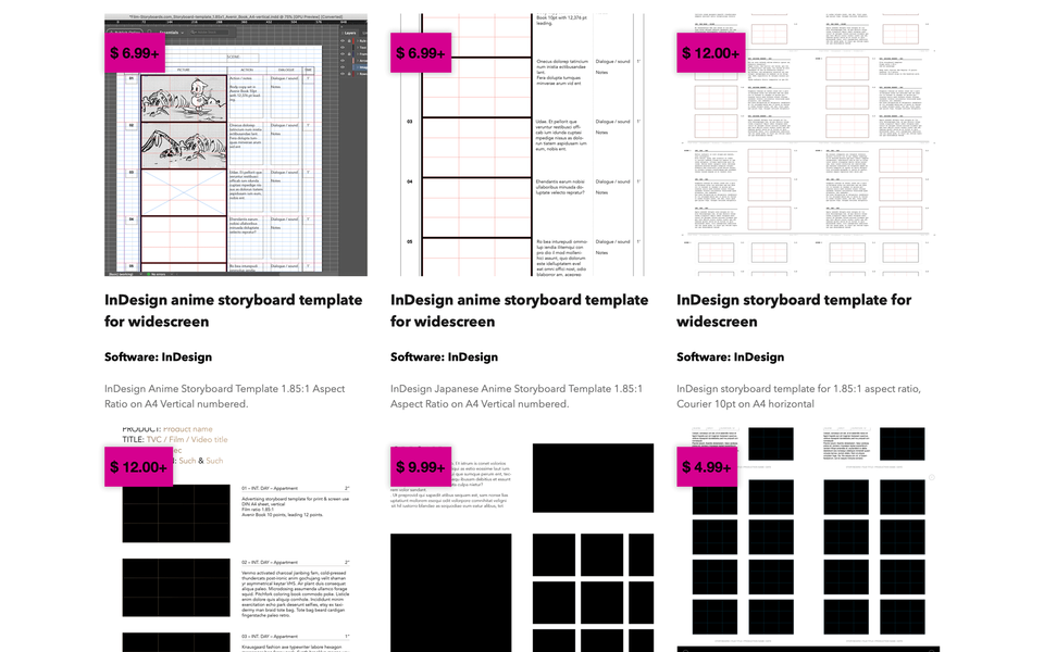 Template Supply InDesign templates page