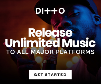 Release unlimited music in all platform with Ditto music.