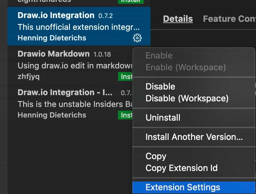 drawio-extension-settings