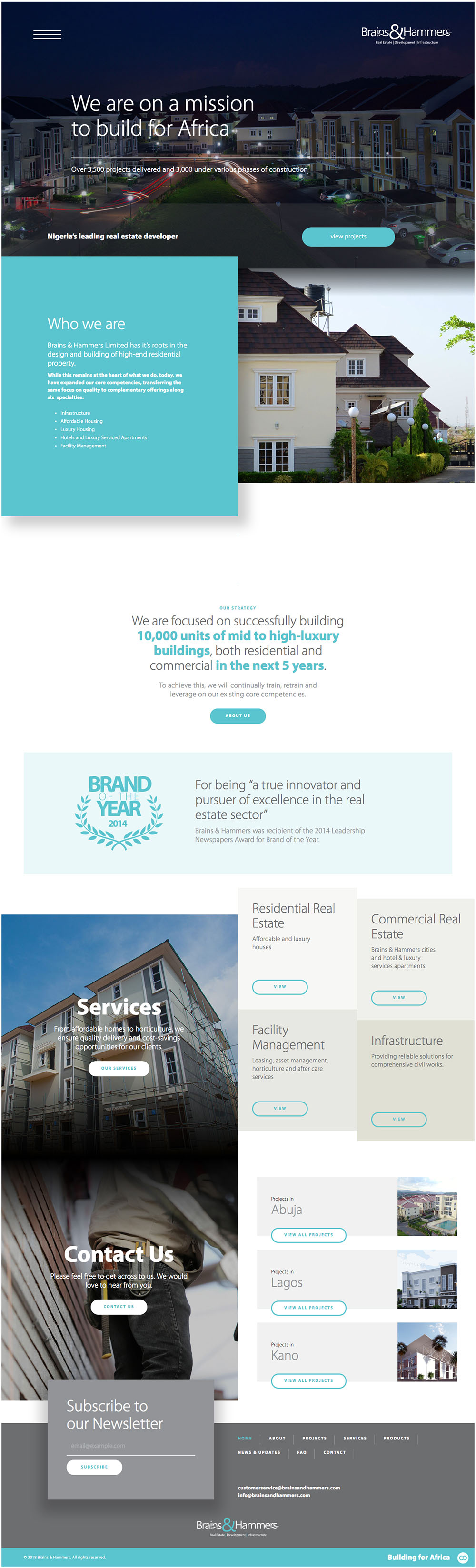 Brains & Hammers Website Preview - Designed by Check DC