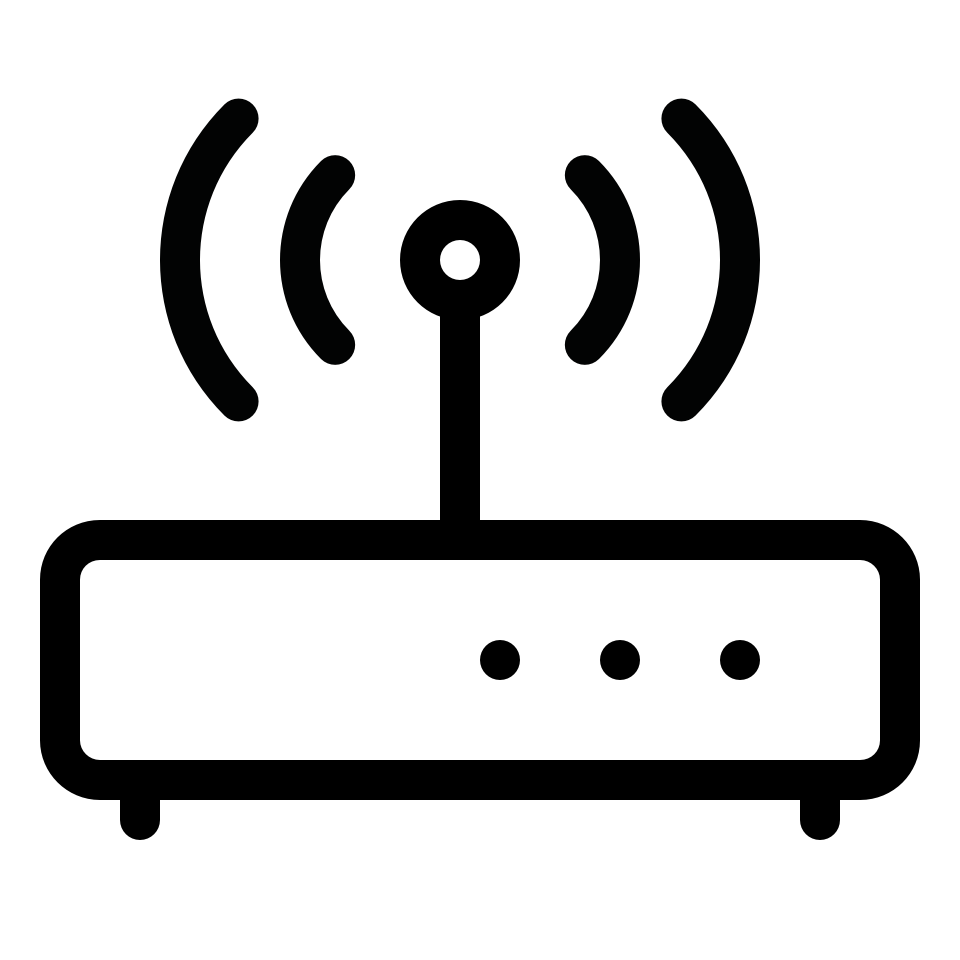 Communication data device router signal