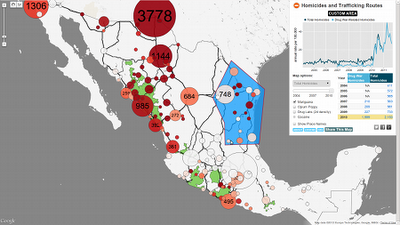 Interactive map of the drug war in Mexico