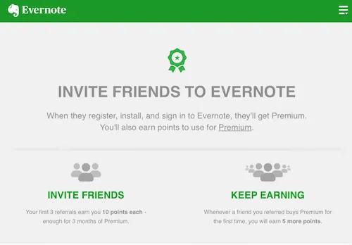 Evernote referral program
