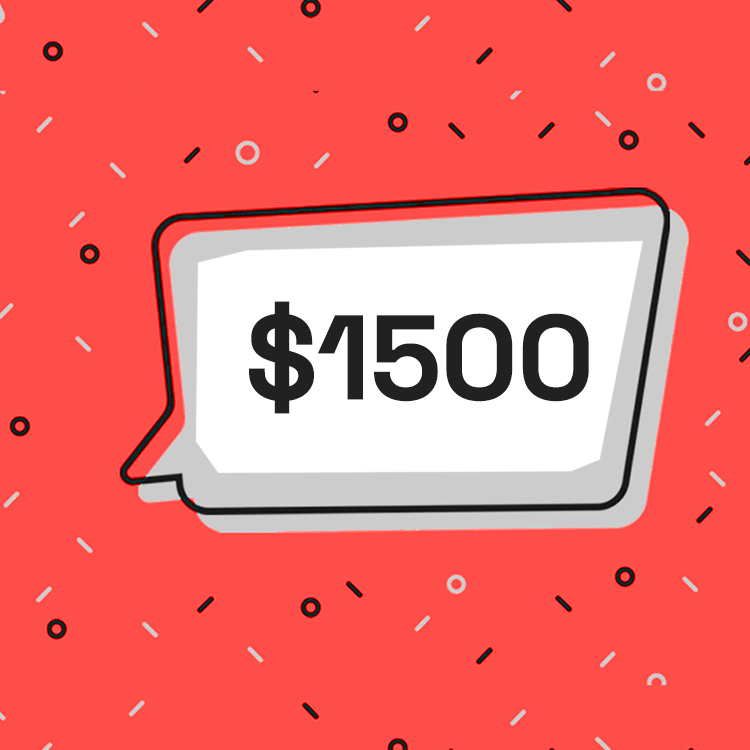 I'm giving away $1500 of my own money