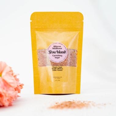 Slow Island | Hibiscus Wildflower Garnishing Sugar