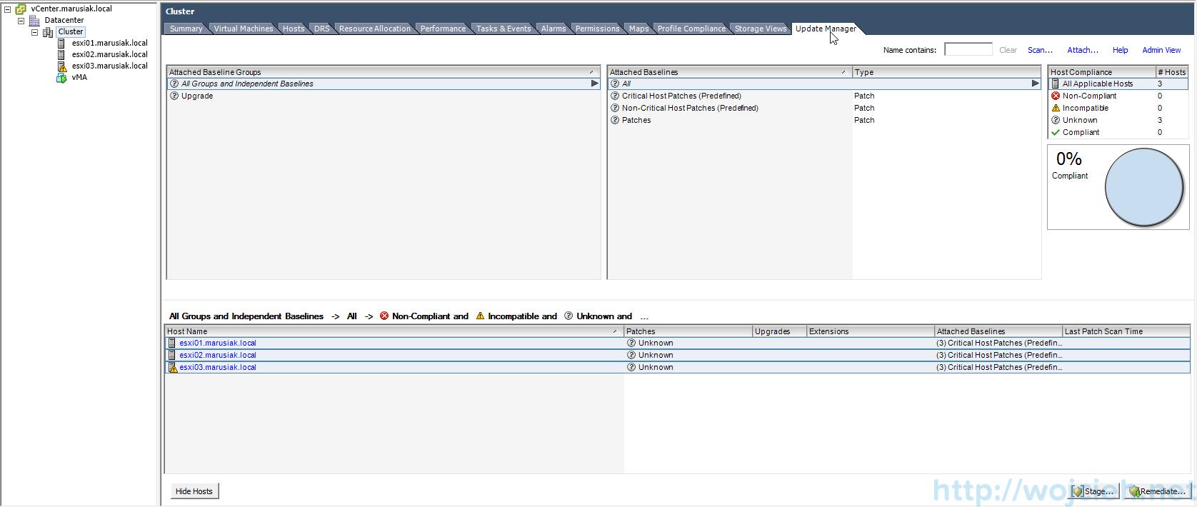 ESXi update - vSphere Update Manager 6