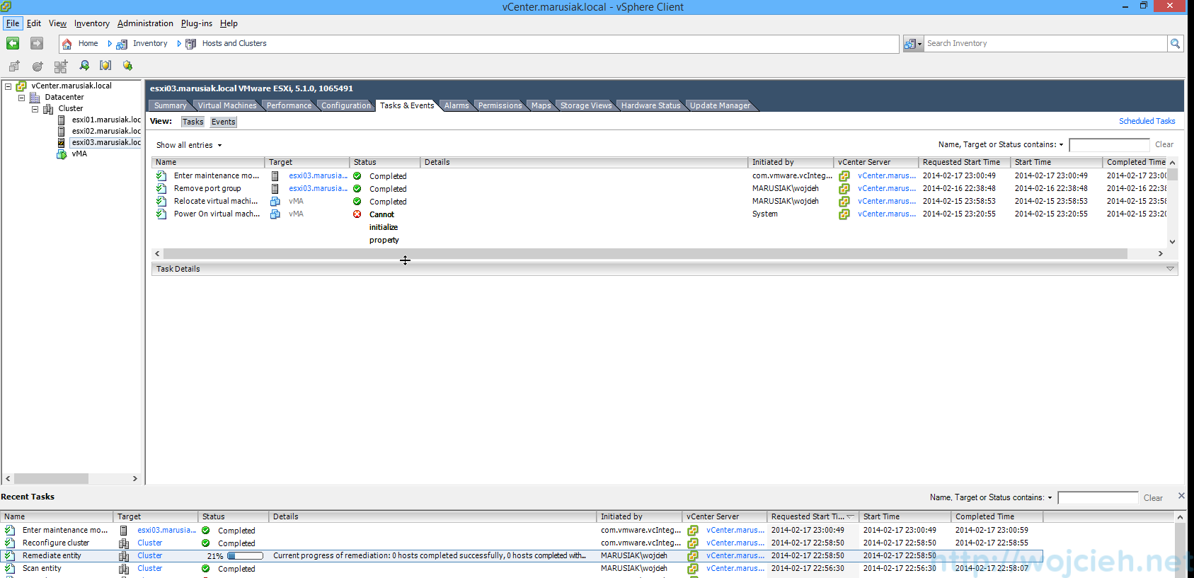 ESXi update - vSphere Update Manager 13