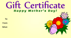 Gift Certificate Mother's Day 02