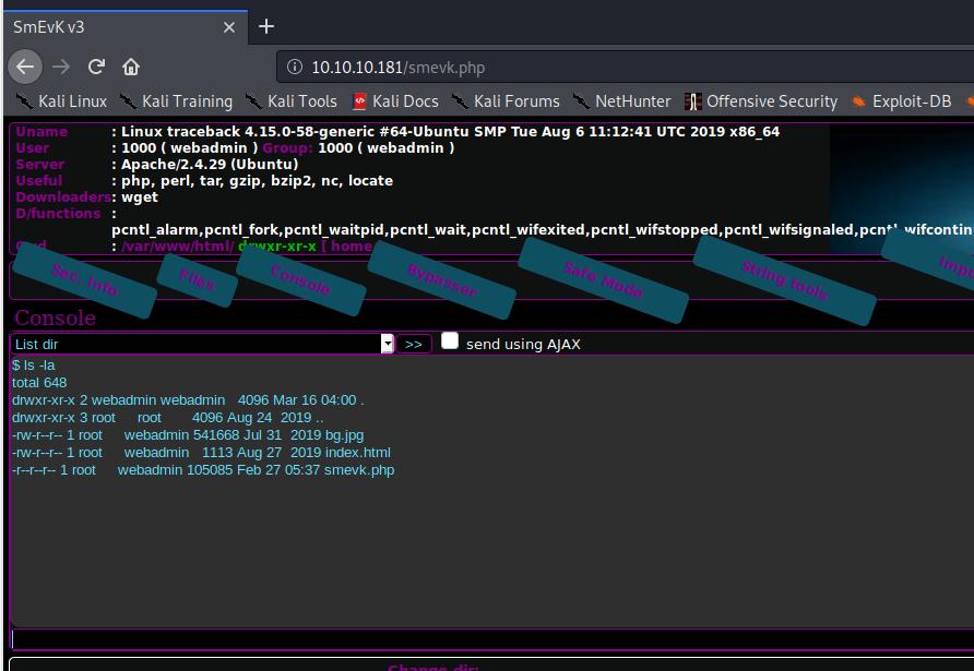 webshell commands