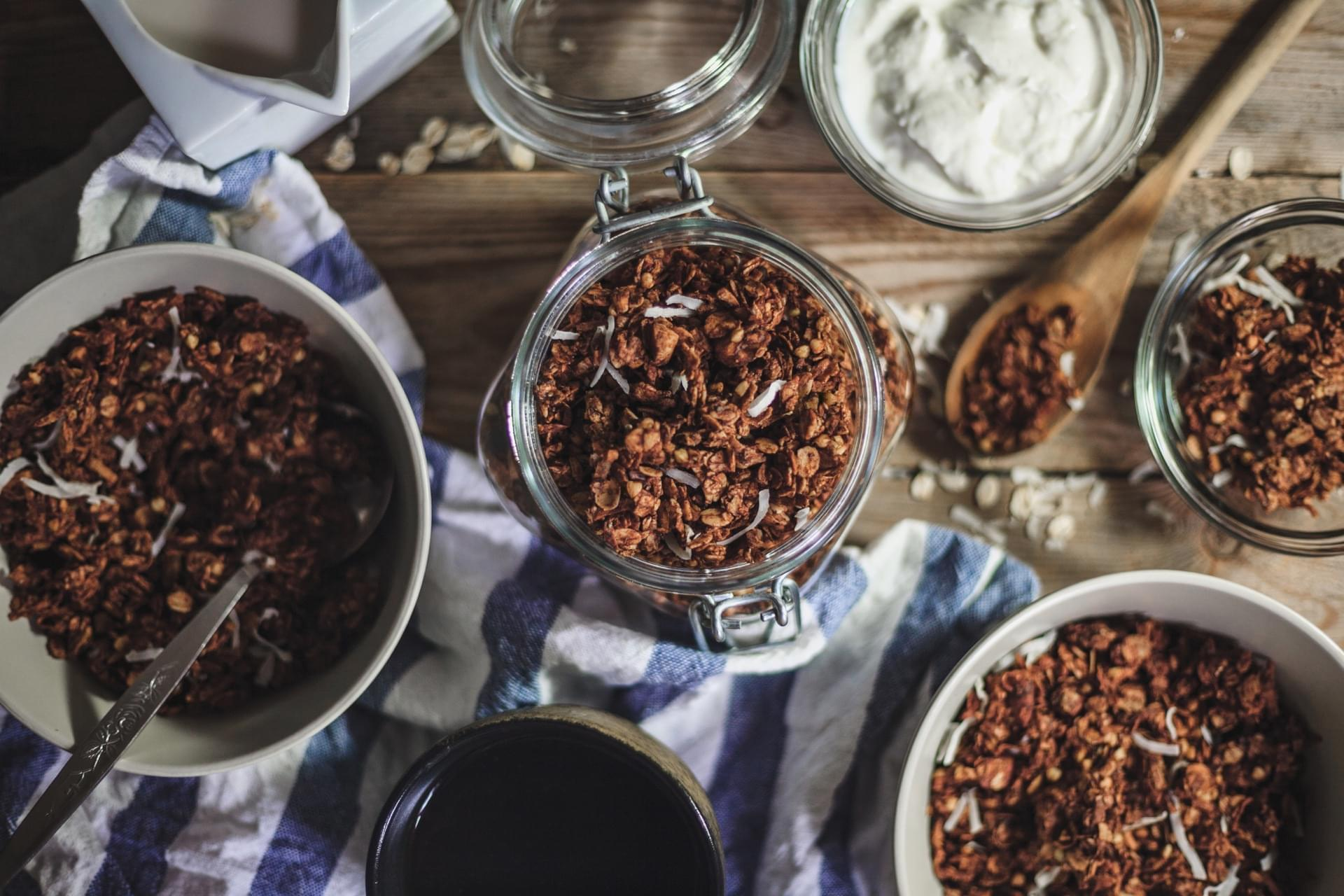 Chocolate Buckwheat Loaded Granola