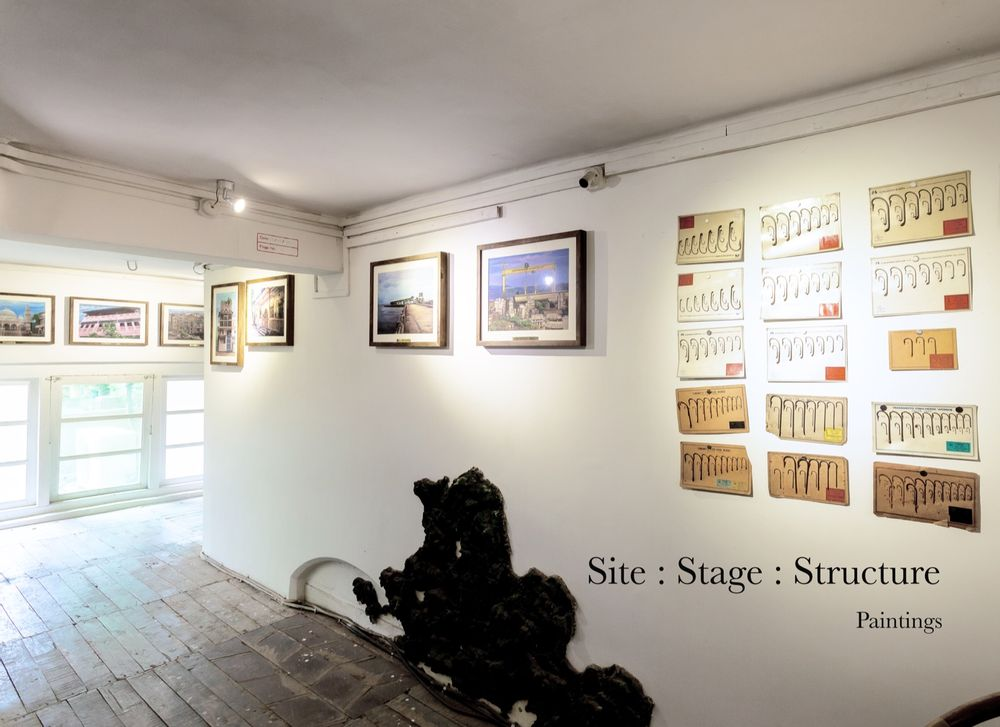 SITE : STAGE : STRUCTURE: Landmark Paintings, Acrylic on Board, 2014