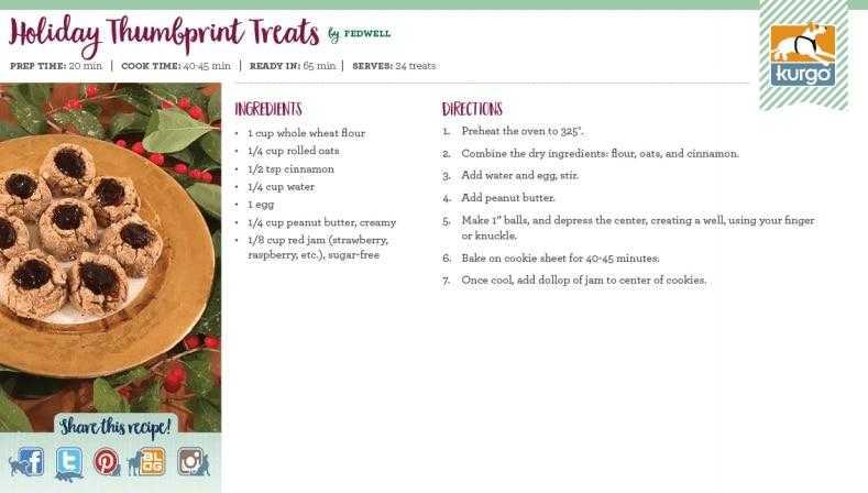 Holiday Recipe: Holiday Thumbprint Treats