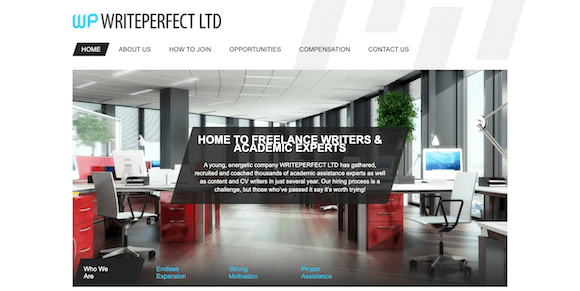WritePerfect LTD Essay Writing Company Review