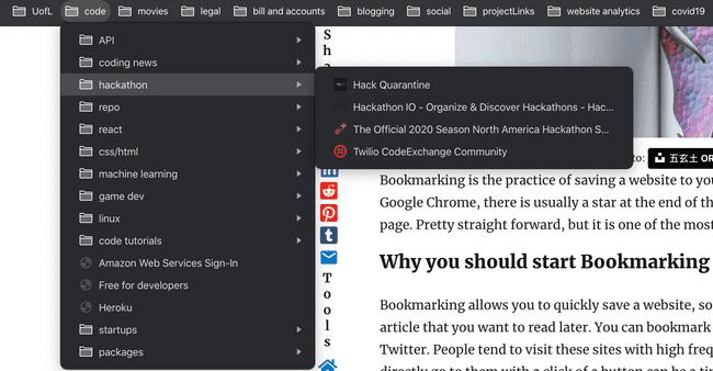 bookmarking folders