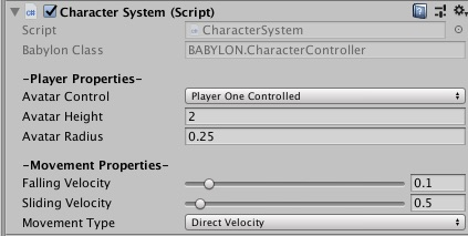 Character Controller Component