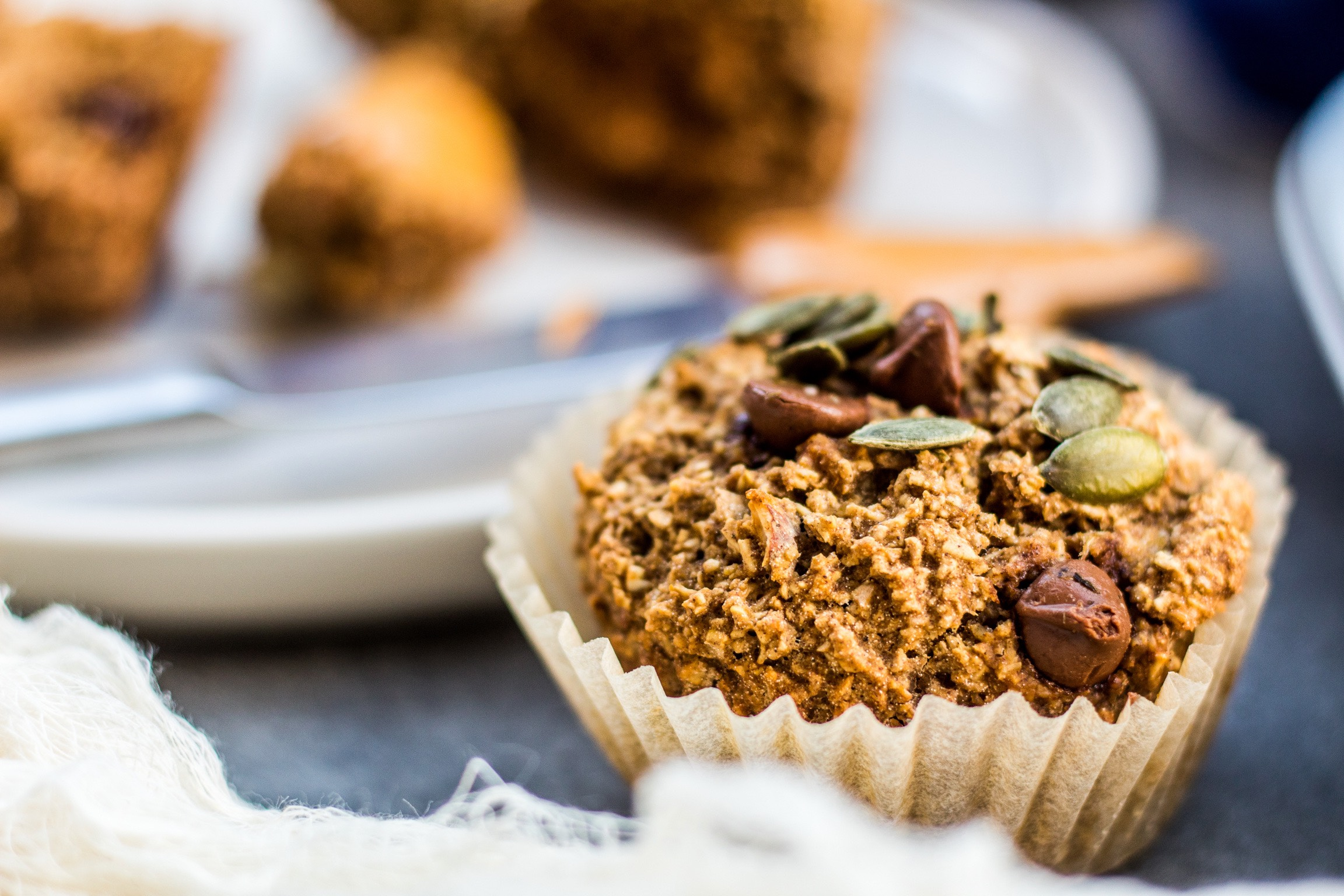 Oatflour muffins