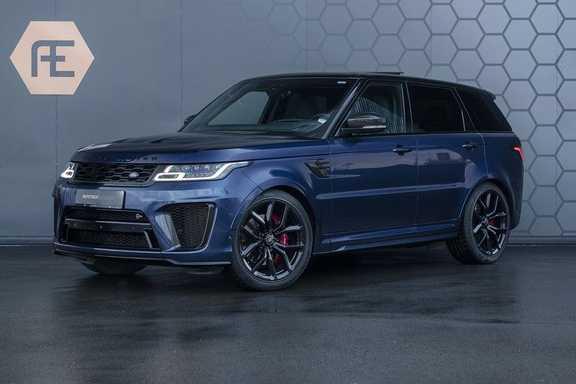 Land Rover Range Rover Sport SVR 5.0 V8 SC SVO Balmoral Blue Ultra Carbon Interieur&Exterieur pack, Head-Up, Panoramadak, Pixel Laser Led Koplampen, Stoelverkoeling/verwarming, Adaptive Cruise Control