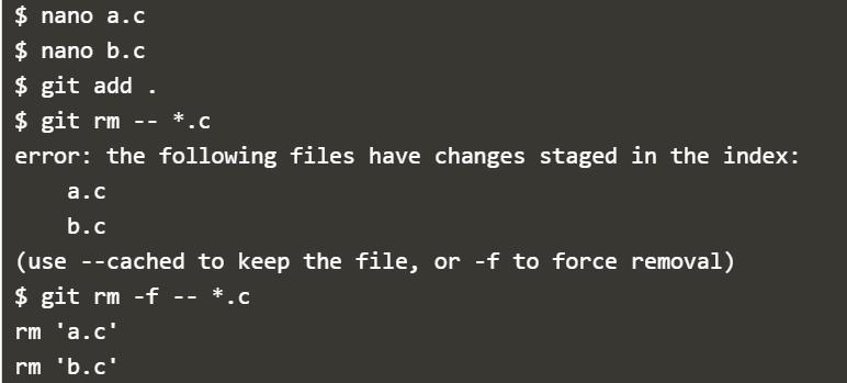 Deleting files in Git