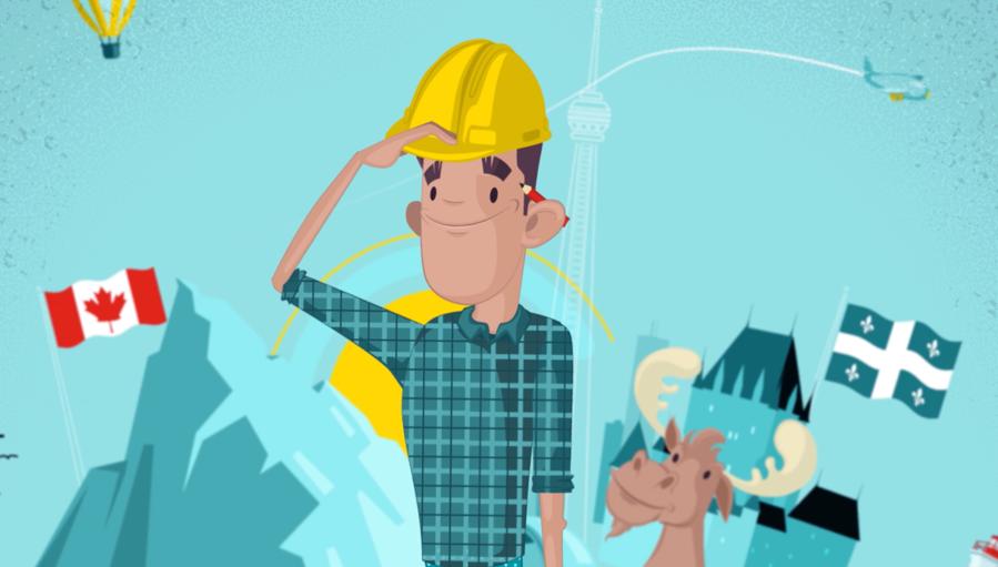 Illustration tirée de la vidéo de motion design pour Québec Métiers d'avenir