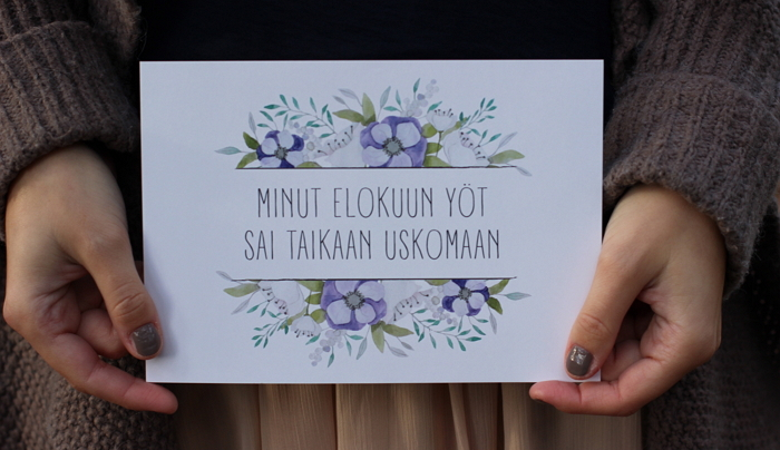 a miniature of the A3 poster with watercolor flowers made for a wedding item thumbnail