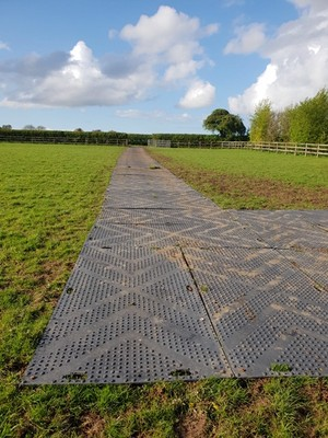 SafeMat ground protection in field