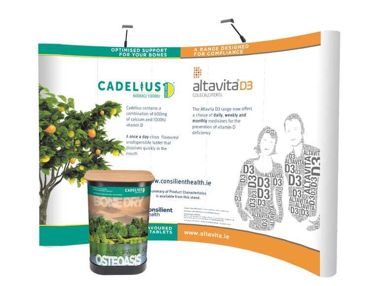 cadelius trade show setup