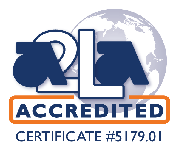 A2LA Accreditation Logo for EMTS Lab