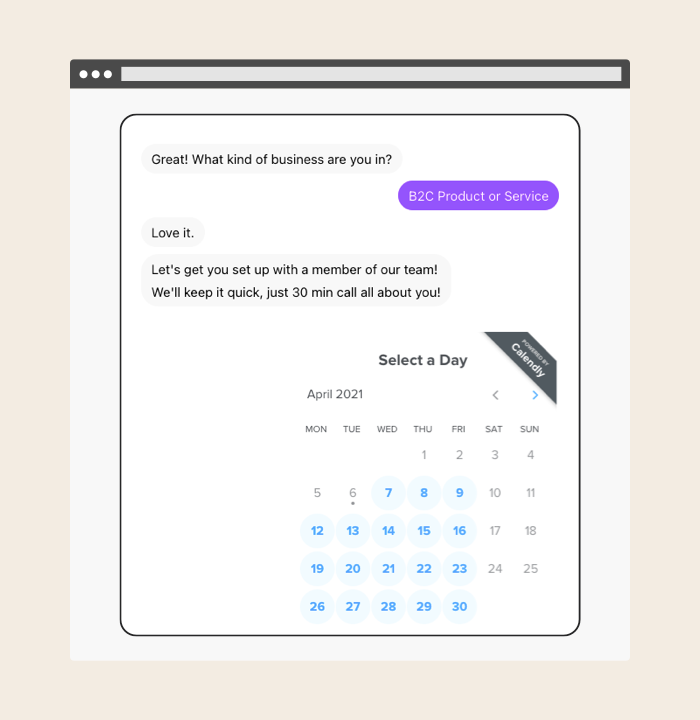 Automate repetitive tasks with our chatbot builder.