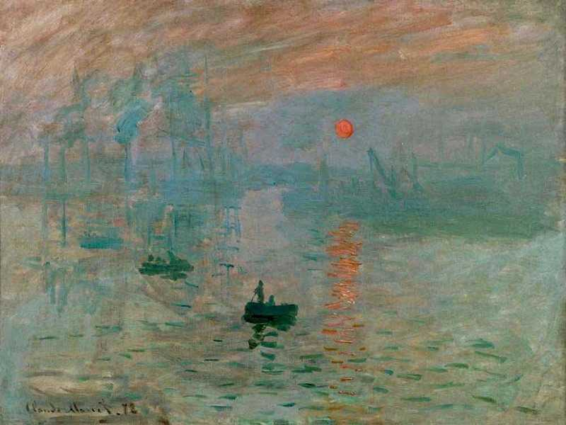 Monet's Impression Sunrise was the work that earned the Impressionists their name
