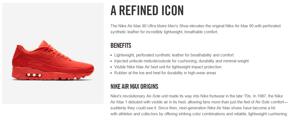 Nike product description
