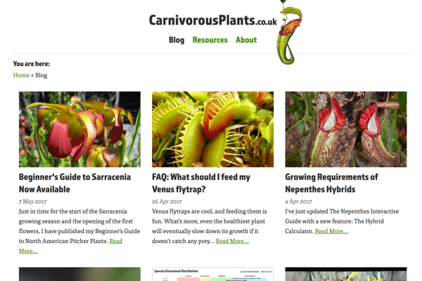 Tools, guides, and interactive resources for growers of all carnivorous plant species.