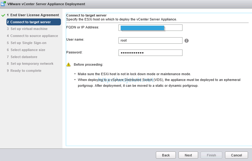 Upgrade vCenter Server Appliance from version 5 to version 6 - 4