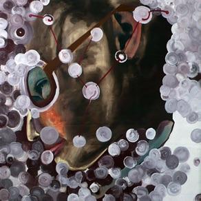 "Alvar Reisner, Estonia. ""Space-Bubble- Trouble"" 2007. Canvas, oil, acrylic, 100x100cm"