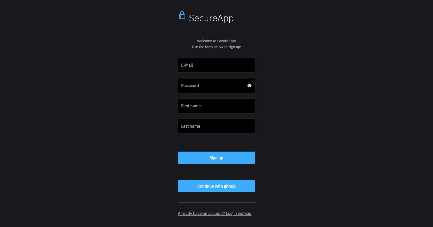 User Registration HTML Form