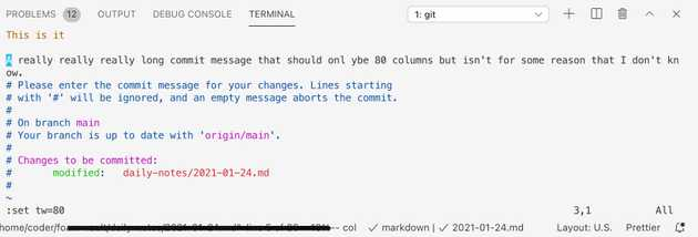 screenshot showing a git commit message that i want to wrap