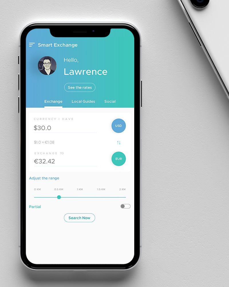 Mobile application for money exchange