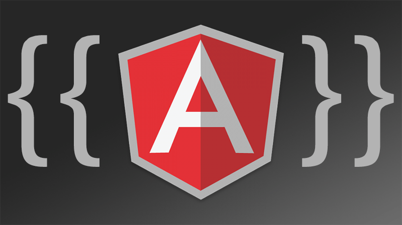 AngularJS logo with binding braces