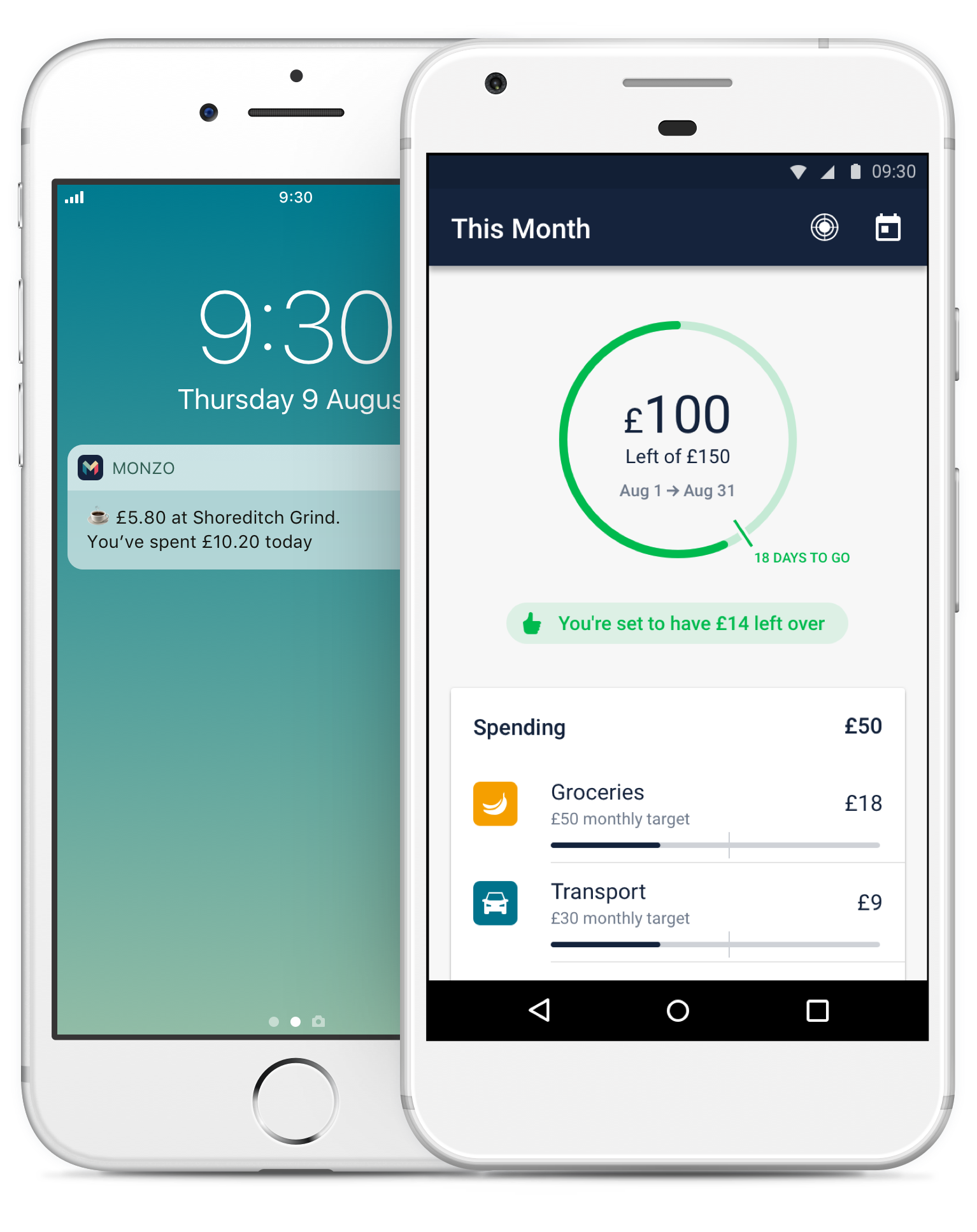 Manage your money with instant notificatons and smart budgeting