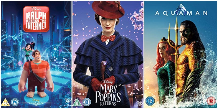 Ralph Breaks the Internet, Mary Poppins Returns, Aquaman