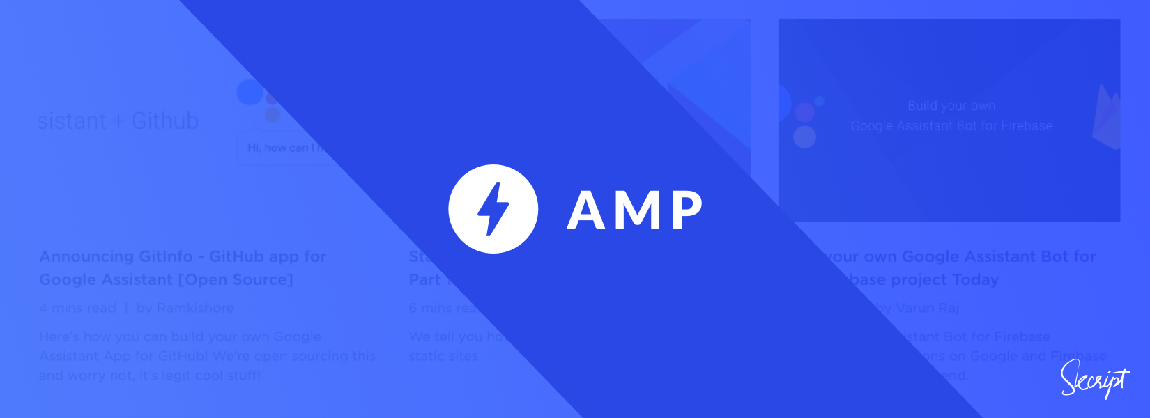 AMP - Showing you the Need for Speed on your websites