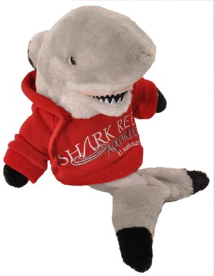 "The Petting Zoo: 8"" Hoodie Shark Blacktip"