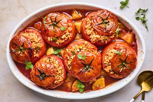 Greek Stuffed Tomatoes (Gemista/Yemista)