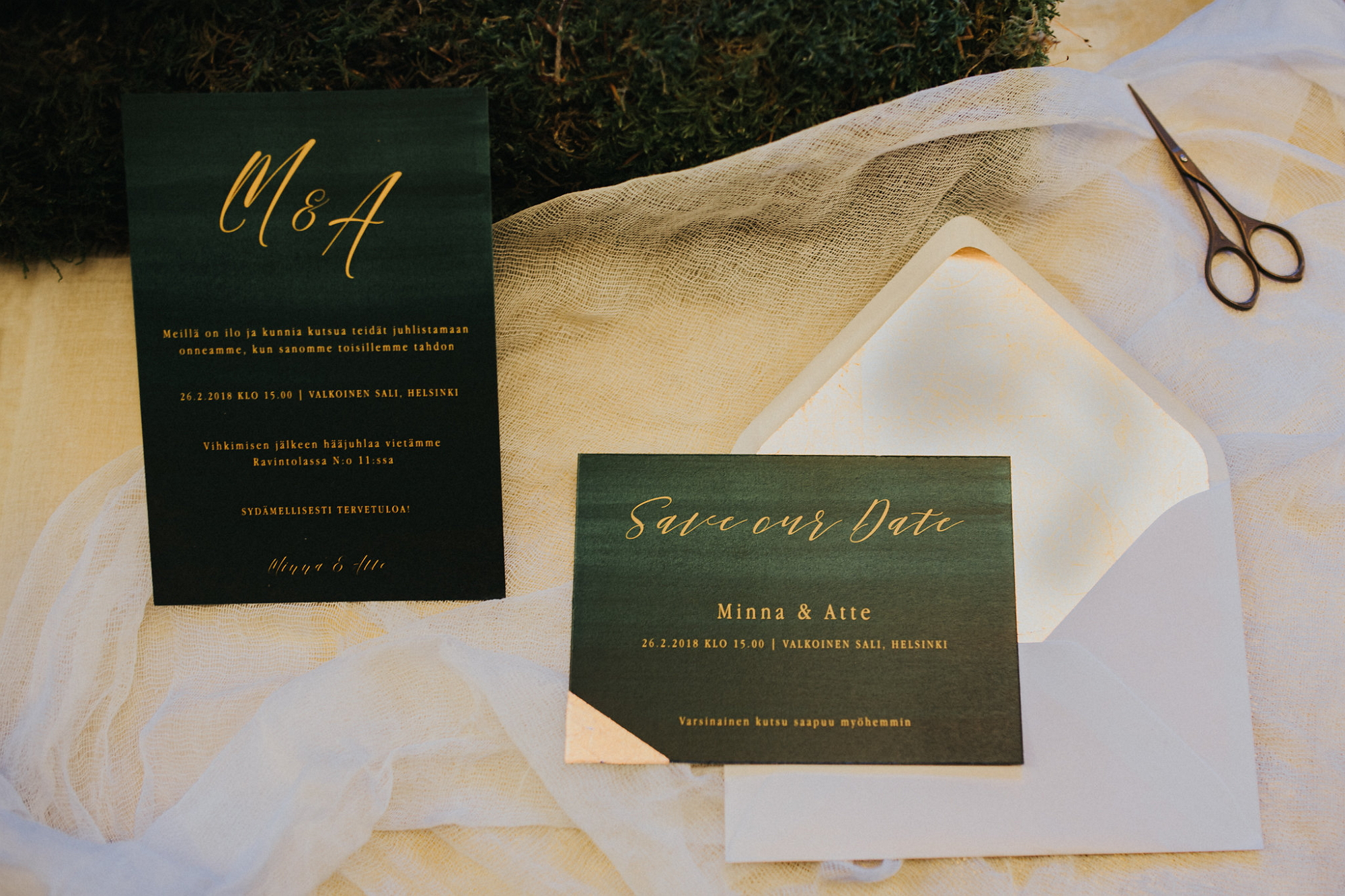 invitation & save the date for a photoshoot, photo by Marissa Tammisalo item