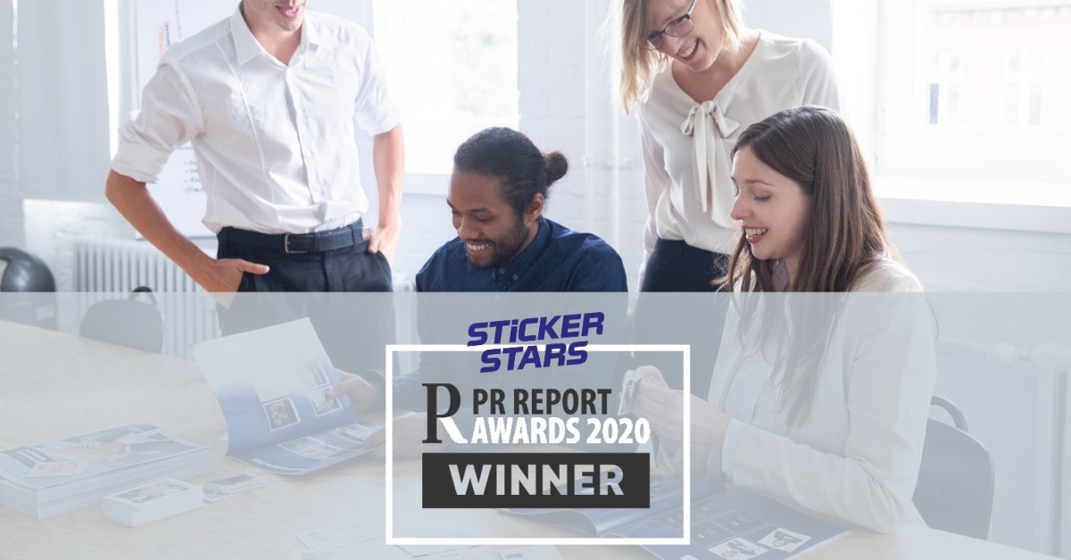 "Stickerstars als PR Report Awards Gewinner in Kategorie ""Interne Kommunikation""!"
