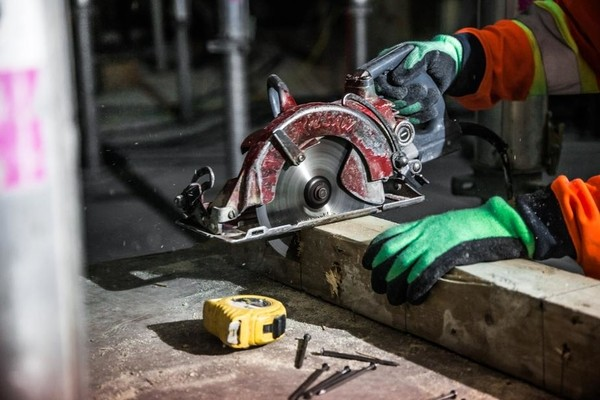 construction site, safety, circular saw, tools