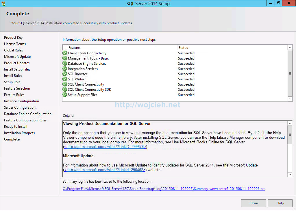 VMware vCenter Server 6 on Windows Server 2012 R2 with Microsoft SQL Server 2014 - 17