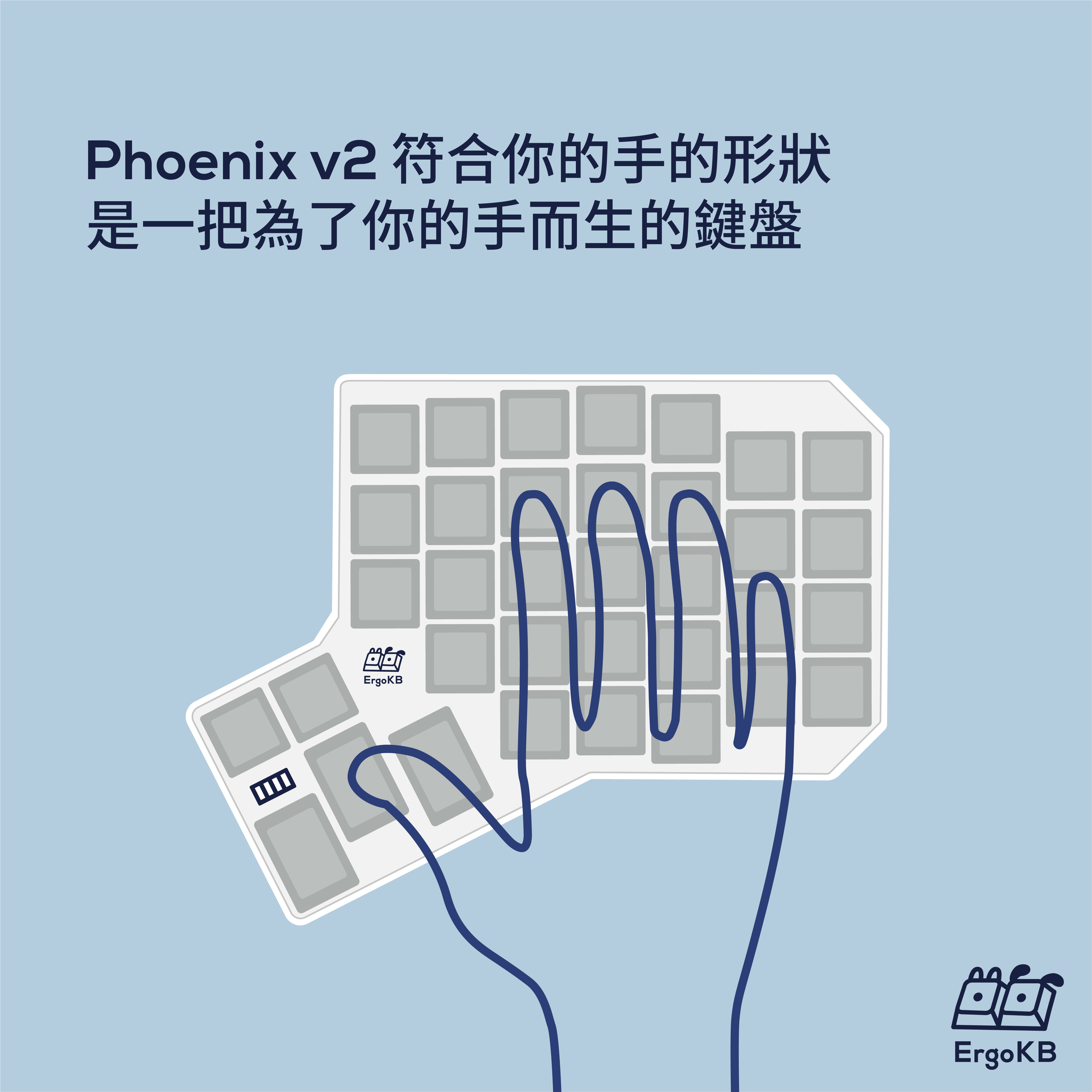 Phoenix 符合你的手的形狀,是一把為了你的手而生的鍵盤